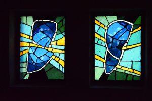 Monts du Vivarais, abbaye de Notre Dame des Neiges, vitrail