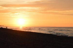 Vendres-plage - Lever du soleil
