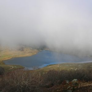 Lac des Pises, ennuagé ...