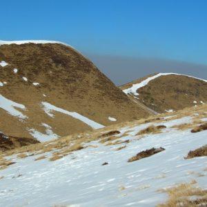 Crête de la Coume du Lion (2084m.), vu du Col de Louron