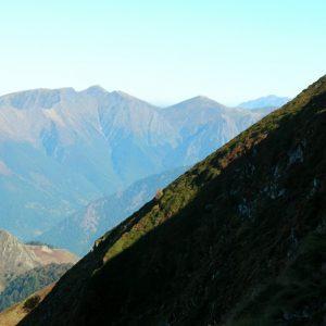 vu du Col d'Esclot d'Aou, Pics de, Pale Bidau, Pale de Rase, de la Calabasse