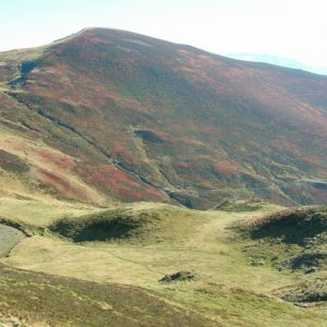 Pic de Bacanère (alt. 2193m.), vu du Col d'Esclot d'Aou
