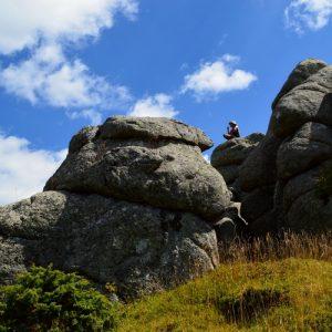 """sur les rocs du """"Grand Pas Ribaldès"""" - Lac des Pises (Massif de l'Aigoual)"""