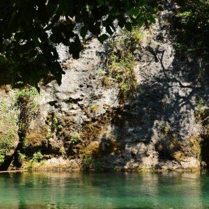 la Vis, dans les gorges en aval du Moulins de la Foux