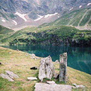 Lac de Peyrelade - Arrivée au lac...