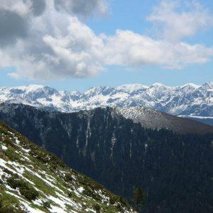 Tuc de l'Étang 1 816 m - Vue de l'Escalette, le massif du Val d'Aran en Espagne