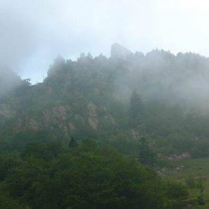 vers le Pic de Pique, 2 394 m - Vue de la vallée de la Frèche