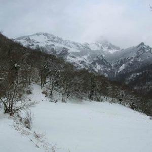 Pic du Gar, face ouest - Balade à la chapelle d'Esputs, 808 m d'altitude
