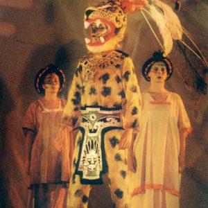Le jaguar... figure mythique centrale du rituel lié aux pouvoirs du seigneur des forêts tropicales d'Amérique Centrale