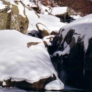 Cascade du Gasbiel - En aval du pont Romain, mont Lozère