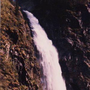 Haut de la Cascade d'Oo à 1 780 m