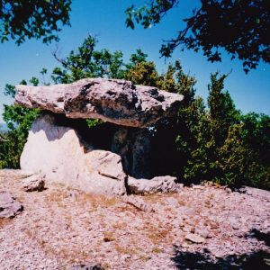 dolmen de Pinarède en 1995 - Causse du Larzac (Hérault)