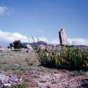 Menhir du col de Bes - Se trouve dans la montagne du Liron, Cévennes du mont Aigoual