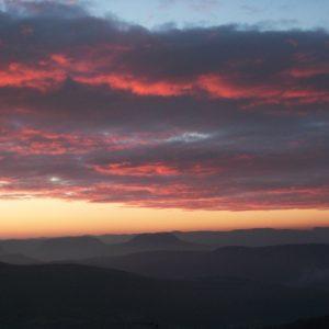 crépuscule,  (vue sud de Montjaux)