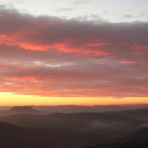 couchant, au-dessus de la vallée du Tarn