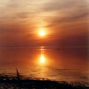 Coucher de soleil sur l'étang de Vaccarès