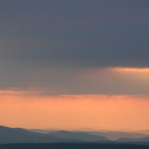 crépuscule, La Vialasse, Mt Lozère