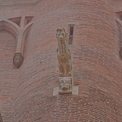 """""""gargouille"""" (coté nord de la cathédrale Sainte-Cécile d'Albi)"""