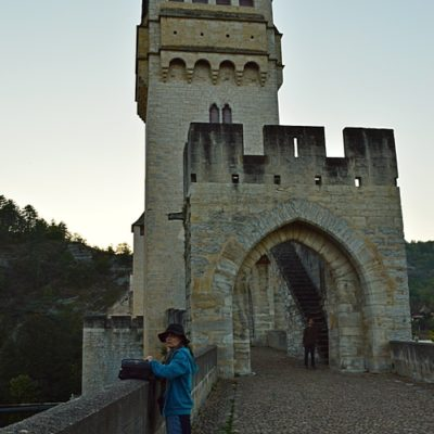 Le Pont Valentré à Cahors, porte côté ville