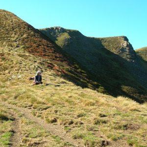 Col d'Esclot d'Aou et Crête de Cigalères vers le sommet du Burat