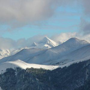 Pic de Pale Bidau (alt. 1974m.) et Pic de Pale de Rase (alt. 2140m.), vu de Soulan, Le Mourtis