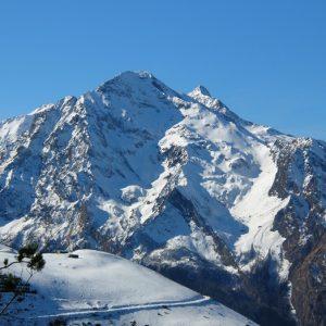Pic d'Arrouyette (2803m.) et Pic de Lustou (3020m.), vu du Pic Arrouy