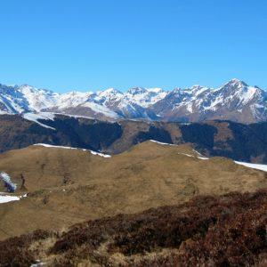 chaîne de l'Arbizon vu du Sommet de l'Aigle (2078m.) Haut-Luchonnais