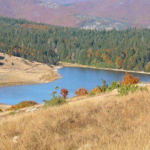 """Lac des Pises - Vue du sud, """"le Grand Pas"""""""