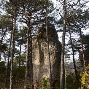 mégalithe naturel - Causse Noir (Aveyron)