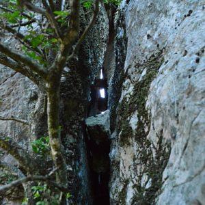 Roc du Mérigou - faille de la face nord