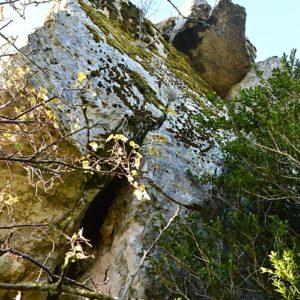 Roc du Mérigou - surplomb face nord