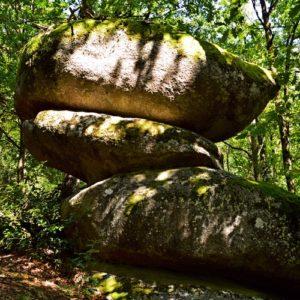"""""""Les rochers décalés"""" - Sidobre"""