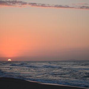 lever du soleil ... (Vendres plage)