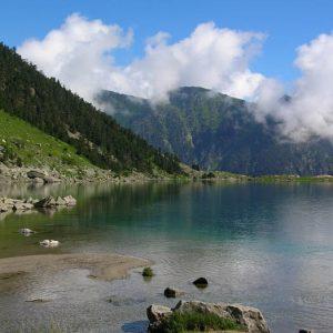 La berge sud du lac...