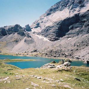 Arrivée au lac de Barroude... Ce lac se situe à la frontière espagnole, altitude 2 370 mètres