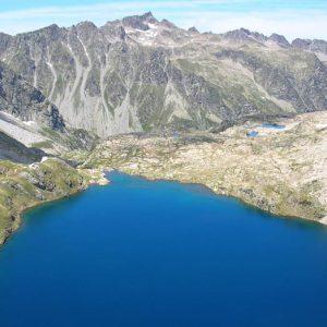 Lac Soubiran et pic d'Estibe Aute