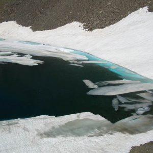Arrivée au lac du Col
