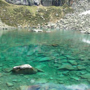 Le lac de Hount Hérède - Arrivée au lac, et ses eaux limpides, vert émeraude
