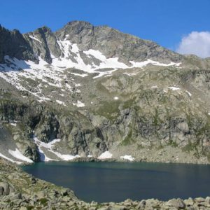Lac sud d'Estibe - Le lac sud au pied du pic d'Estibe Aute, 2 755 m d'altitude