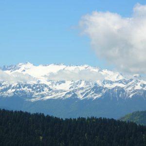 Maupas... Luchonais - Panorama de l'Escalette sur le Tuc de Bidur (2 019 m)... les pics du Maupas, Crabioules, Perdiguère, Céciré...