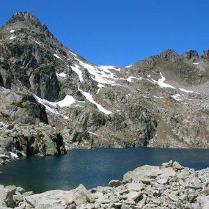 Le Soum Bassia, le lac du Pourtet, les aiguilles d'Arrouy