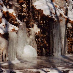 Les orgues de glace - Haut des cascades de l'Hérault...
