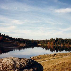 Crépuscule, lac des Pises