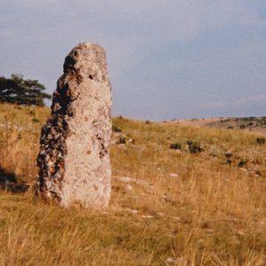 menhir - Causse Méjean (Lozère)