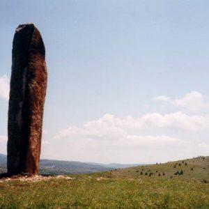 Menhirs de la Cham des Bondons - Vers le lieu dit, Combelle, massif du Lozère