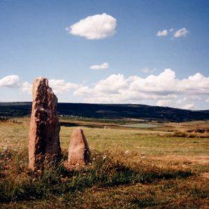 Menhirs de la Cham des Bondons - Vers les Laubies, La terre basse, mont du Lozère