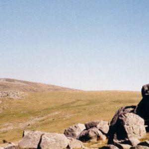 Roc des Laubies - À l'horizon le sommet du Finiels 1699 m, mont Lozère