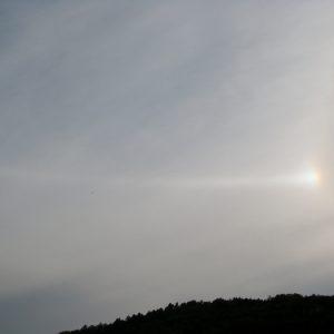 un rayon [parhélies], regard du ciel (Montjaux)