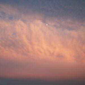 ciel crépusculaire [cirrostratus] (vue de Montjaux - Aveyron)