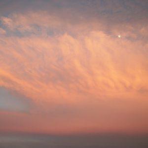 ciel crépusculaire (vue de Montjaux - Aveyron)